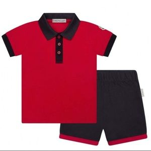 Moncler baby boy red and navy set 12-18M